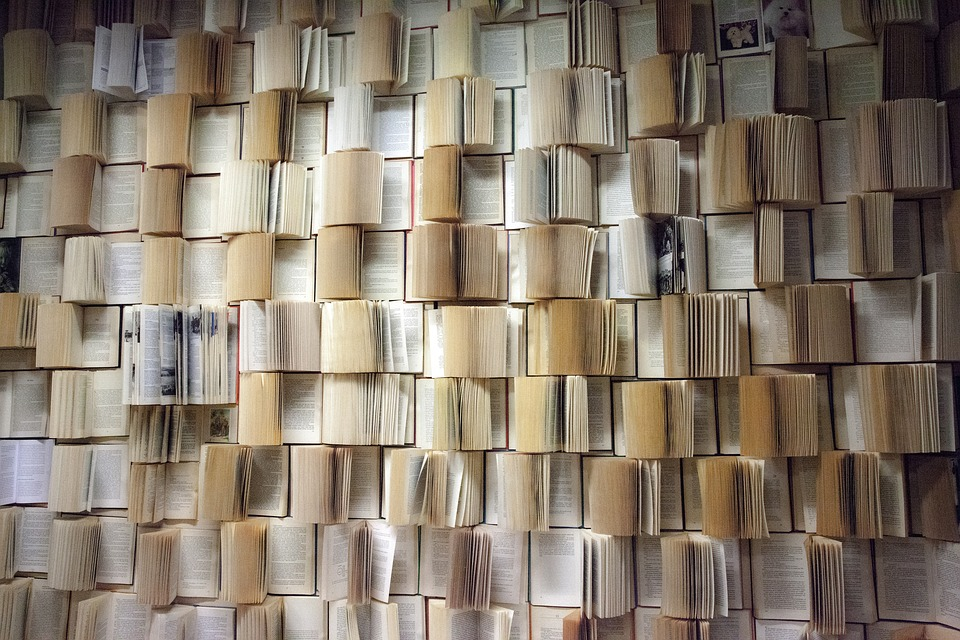 Retaining wall of phone books
