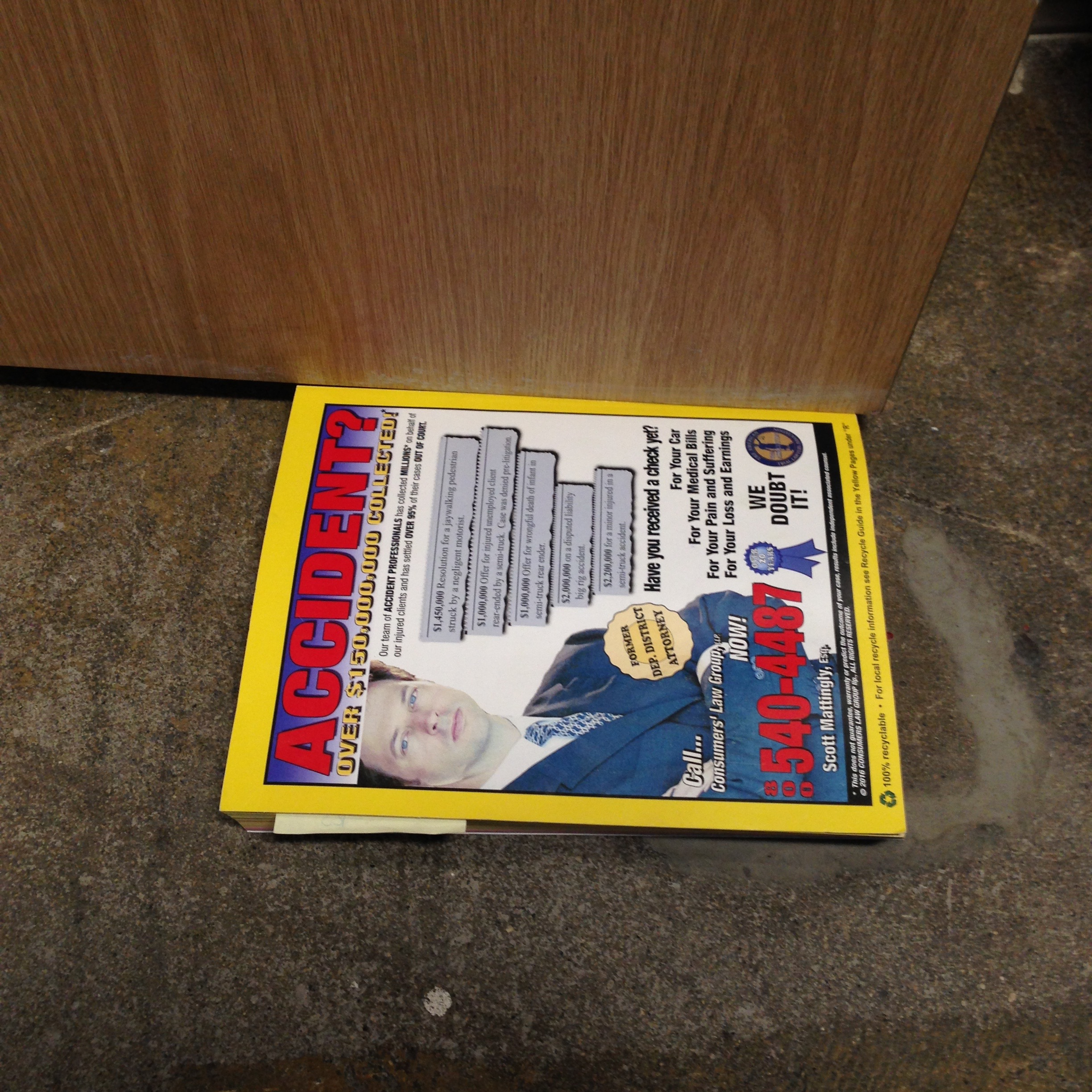 Phone Book Door Stop